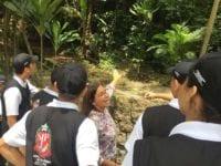 Educação ambiental com jovens Foto: Claudia Giglio