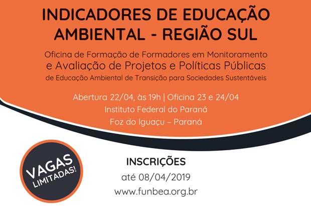 Formação sobre indicadores de políticas de Educação Ambiental chega à região Sul